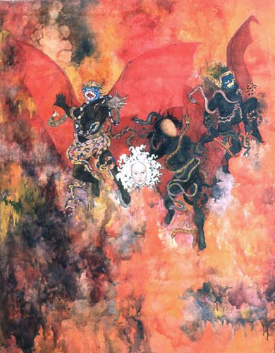 109-utermohlen-1966-the-furies-canto9-152x120cm-oiloncanvas