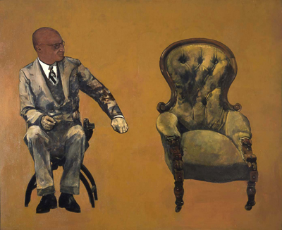 utermohlen-1968-the green chair reg-oil on canvas-87x72cm-coll boicos-paris