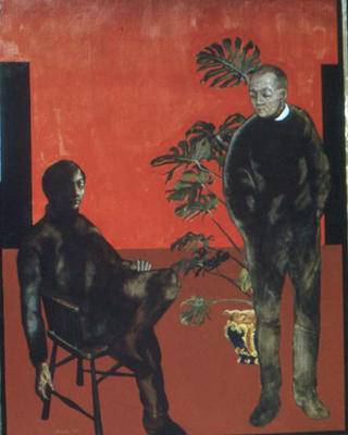 utermohlen-1971-death of a friend-oil on canvas