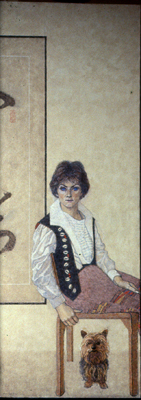 utermohlen-1983-penny mather-152x155cm-oil on canvas-coll mather