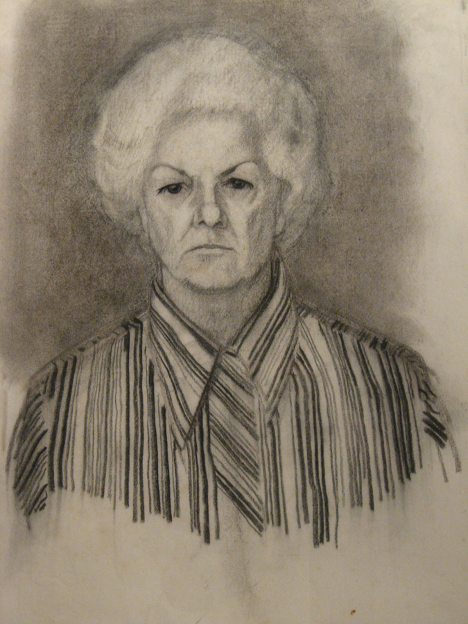 utermohlen 1972 artists mother charcoal 57x39cm bob 900