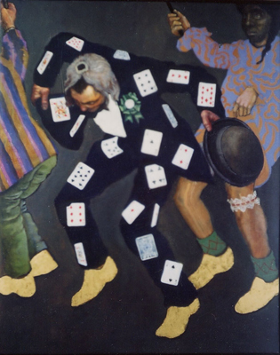 utermohlen-1970-derby and cards-oil and gold leaf on canvas-1220x965mm-gallery d eendt-71